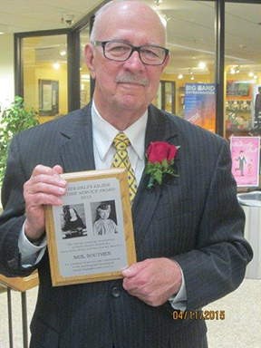 Neil Souther Awarded Sr. Helen Kilzer Lifetime Service Award
