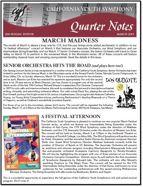 March 2019 Quarter Notes