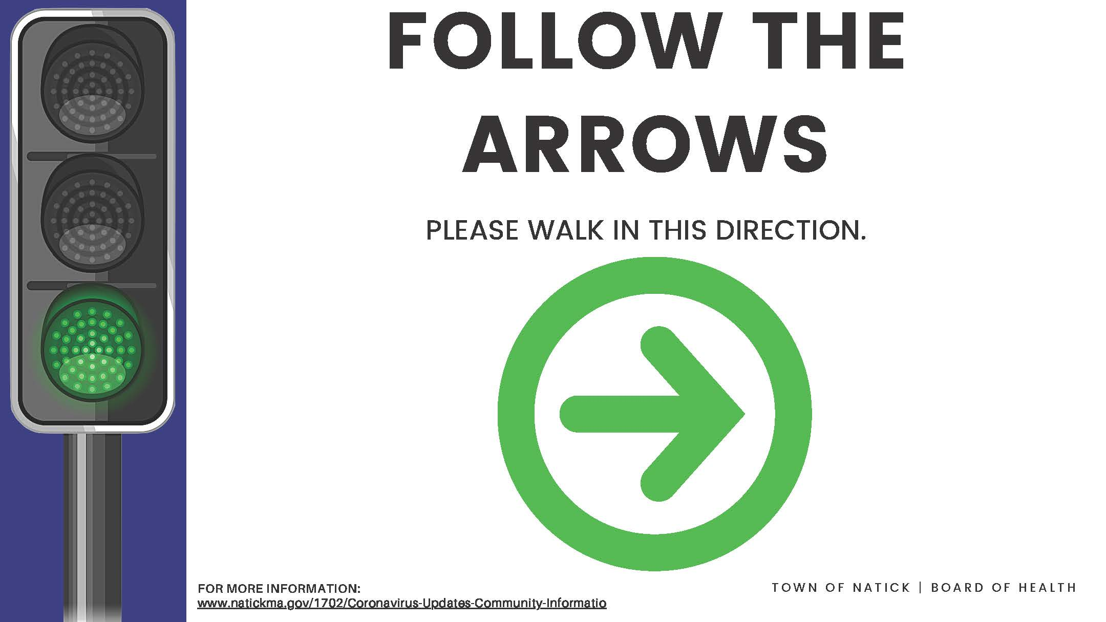 Follow the arrows (Corrugated plastic) Outdoor Sign