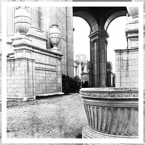 "Palace of Fine Arts, Archival Ink Pigment Print, 14"" x 14"""