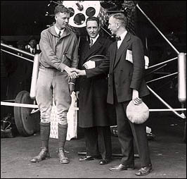 Lindbergh with Transatlantic Competitor Richard Byrd