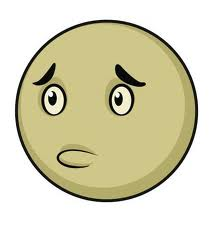 This is picture of a cartoon sad face