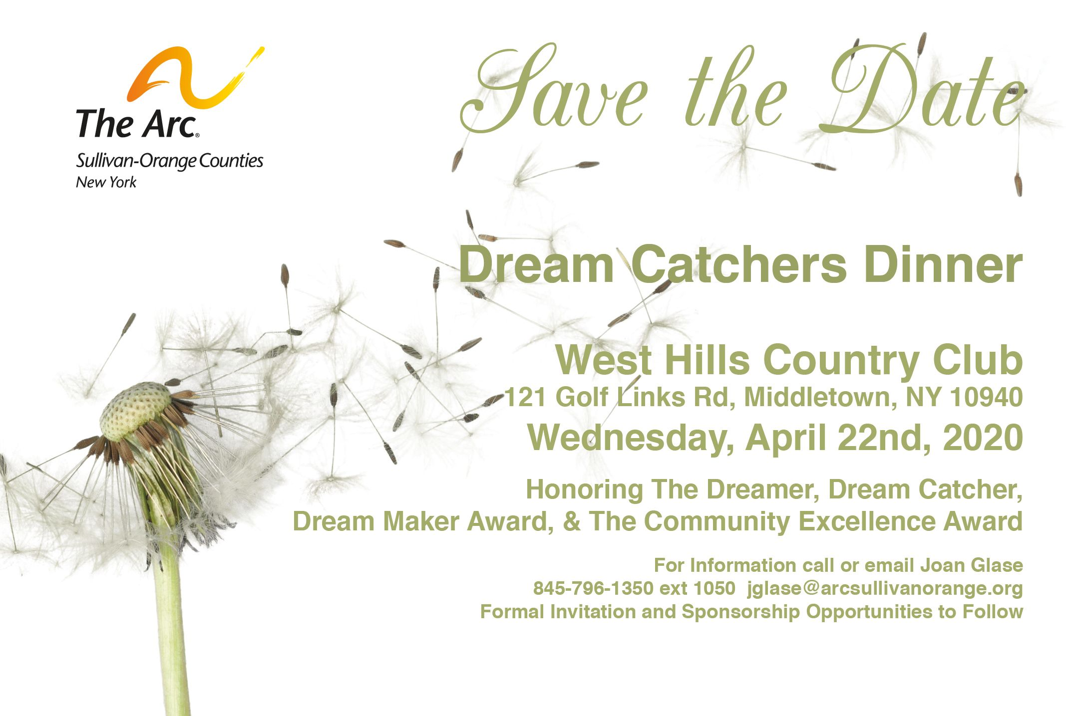 DREAM CATCHERS DINNER- More Info