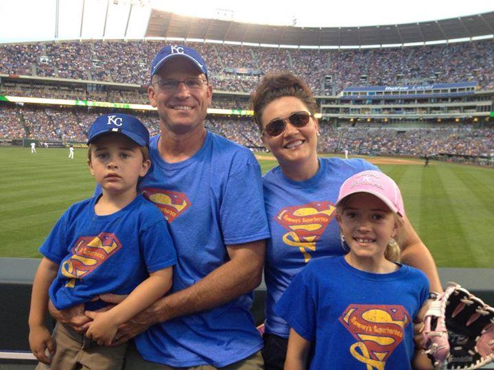 Spreading awareness at the KC Royals stadium! Go Sammy! Go Royals!