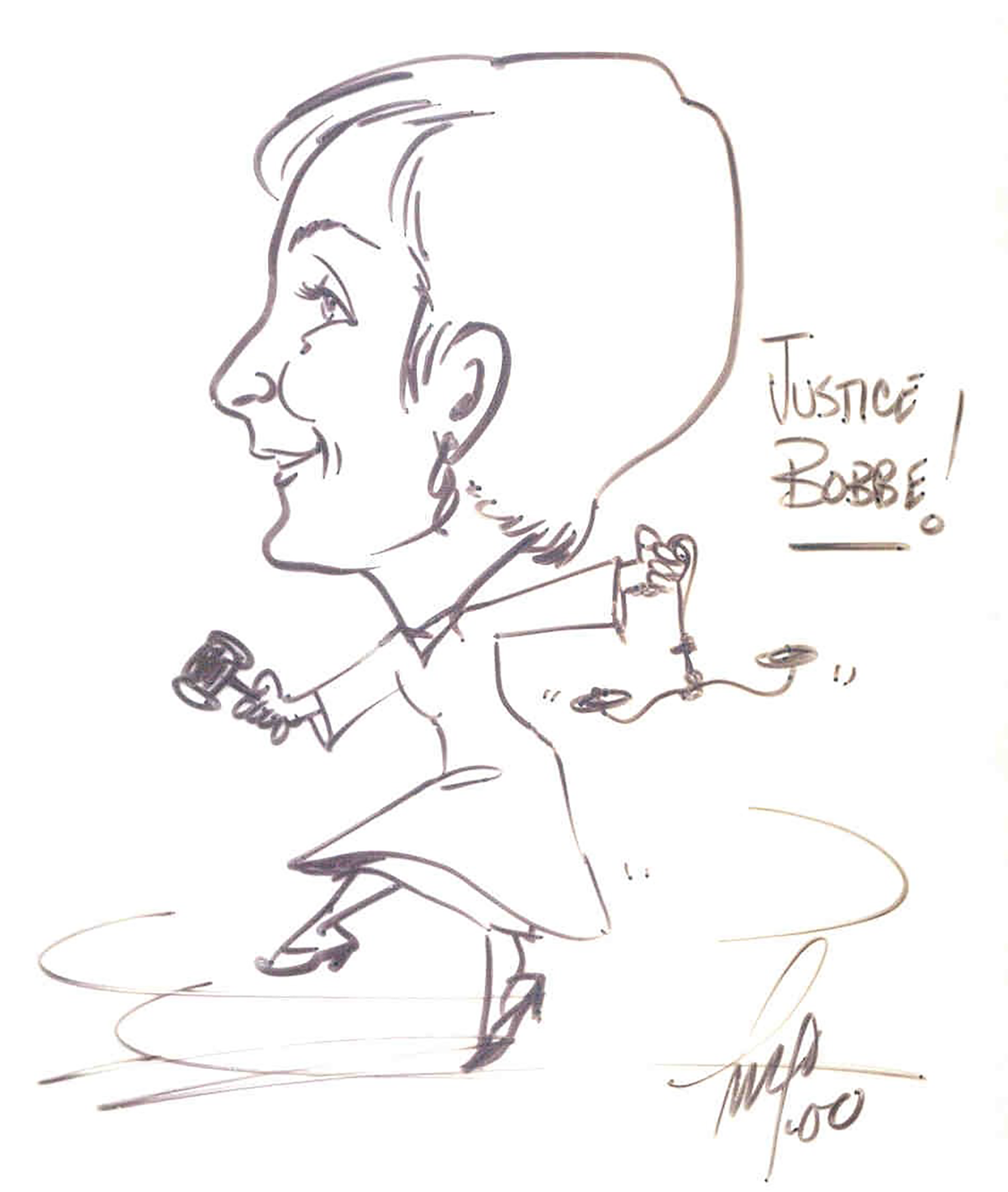 Caricature of Justice Bridge, 2000.