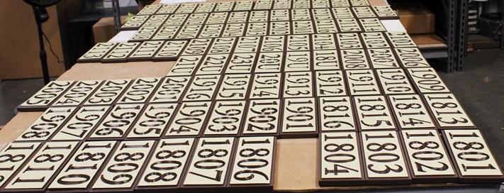 KA20932 - Carved HDU Apartment Unit  Number Signs