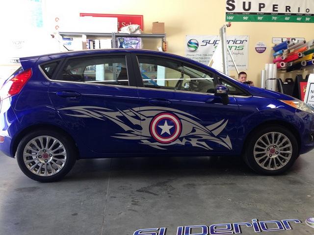 Super Hero Car Graphics Orange County