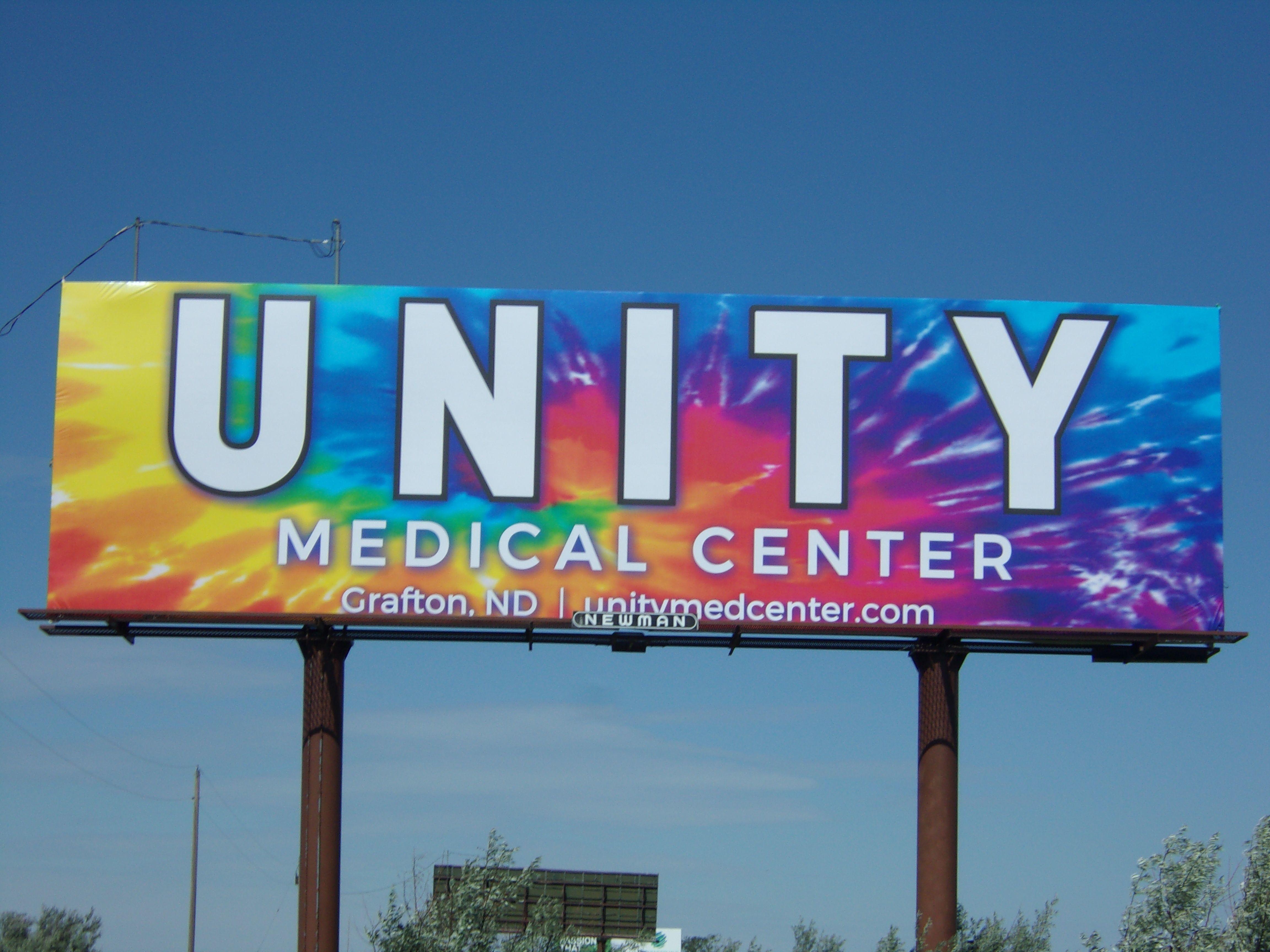 Tie-Dye Billboard on I-29