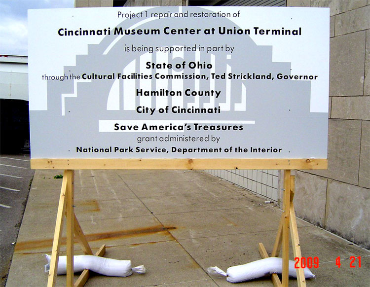 Cincinnati Museum Center Construction Sign