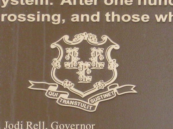 Cast Bronze Plaque, Large 3 ft x 5 ft, Detail of State Seal, Riverfront Park North Walk Project