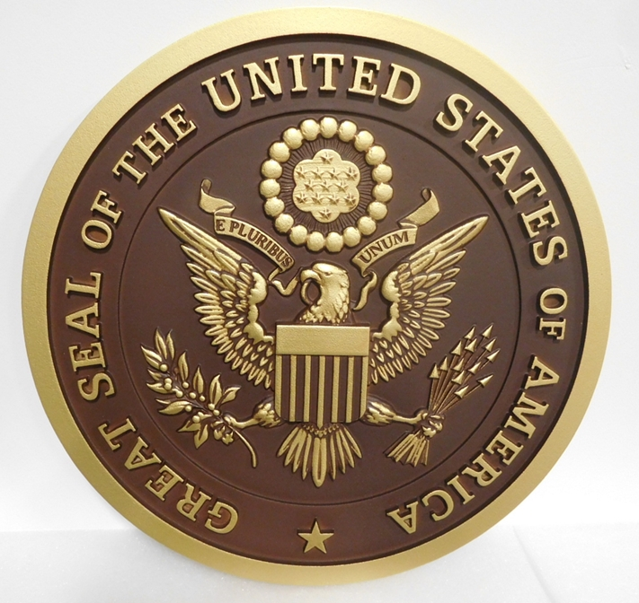 MB2032 - Great Seal of the United States, 3-D with Hand-rubbed Bronze Paint
