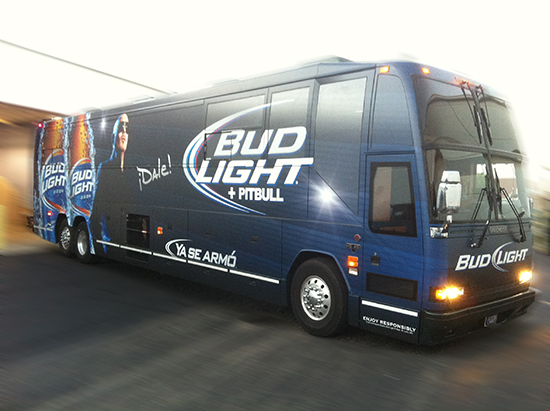 Bud Light Bus