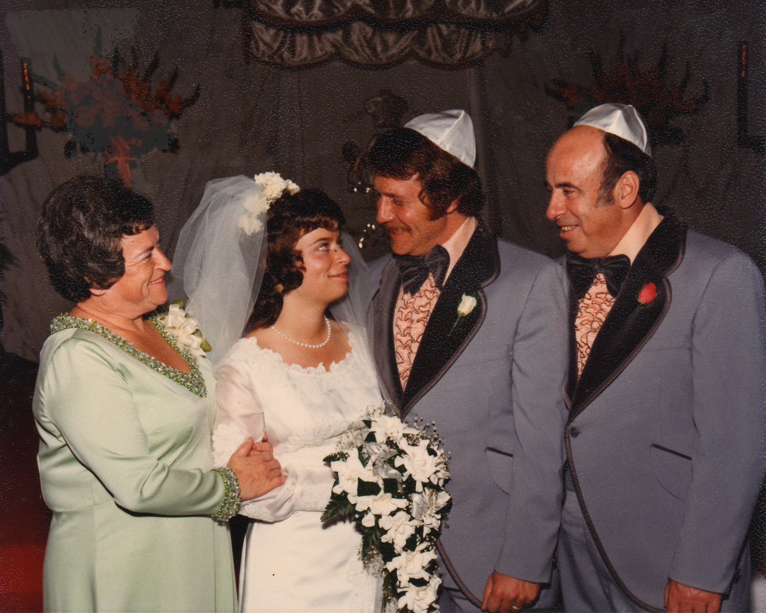Doreen on her wedding day, 1973.
