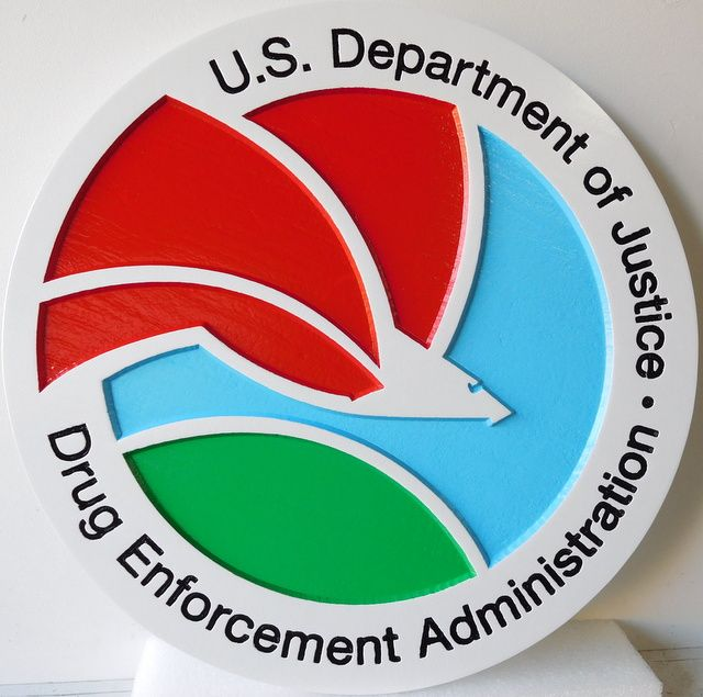 U30371 - Drug Enforcement Administration (DEA) Seal Carved Wall Plaque