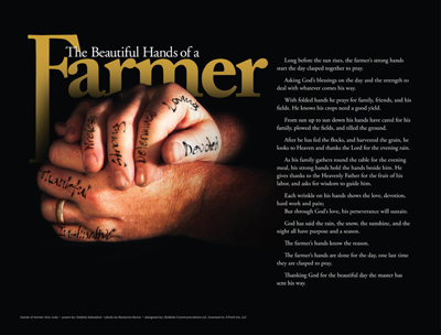Beautiful Hands of a Farmer Print
