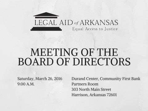 Board of Directors Meeting on March 26
