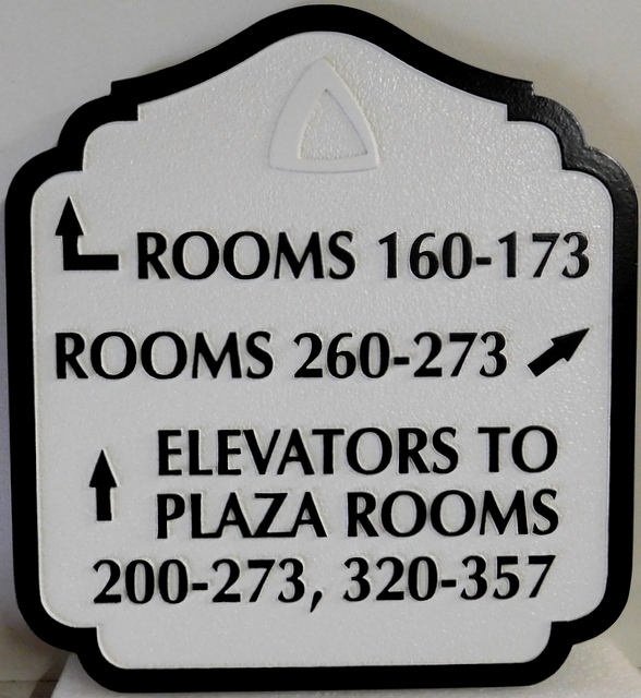 T29413  - Carved and Sandblasted  HDU Wayfinding Resort Hotel Sign