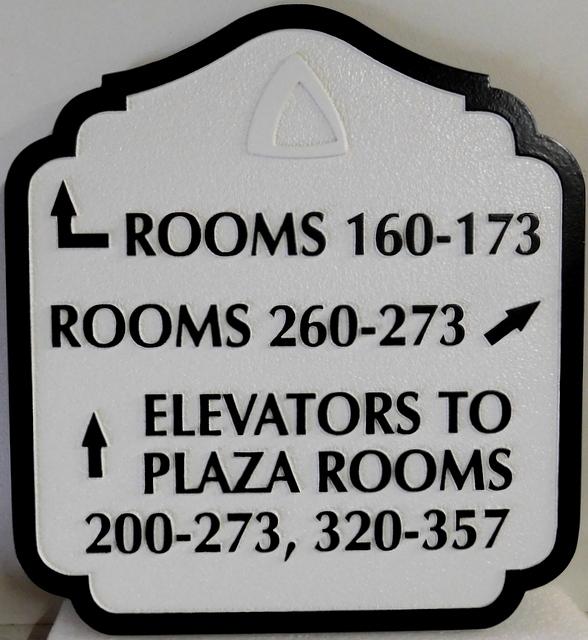 T29413  - Carved and Sandblasted  HDU Wayfinding Resort Hotel Sign