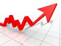 Stock Market Red Arrow Graphic