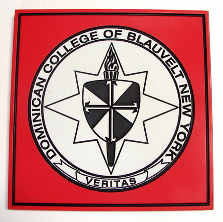 Y34310 - Wall Plaque of the Dominican College of Blauvelt Seal