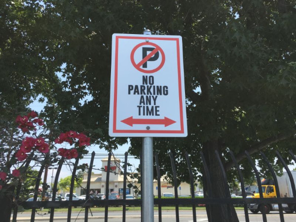 No Parking Signs for Warehouses in Orange County CA