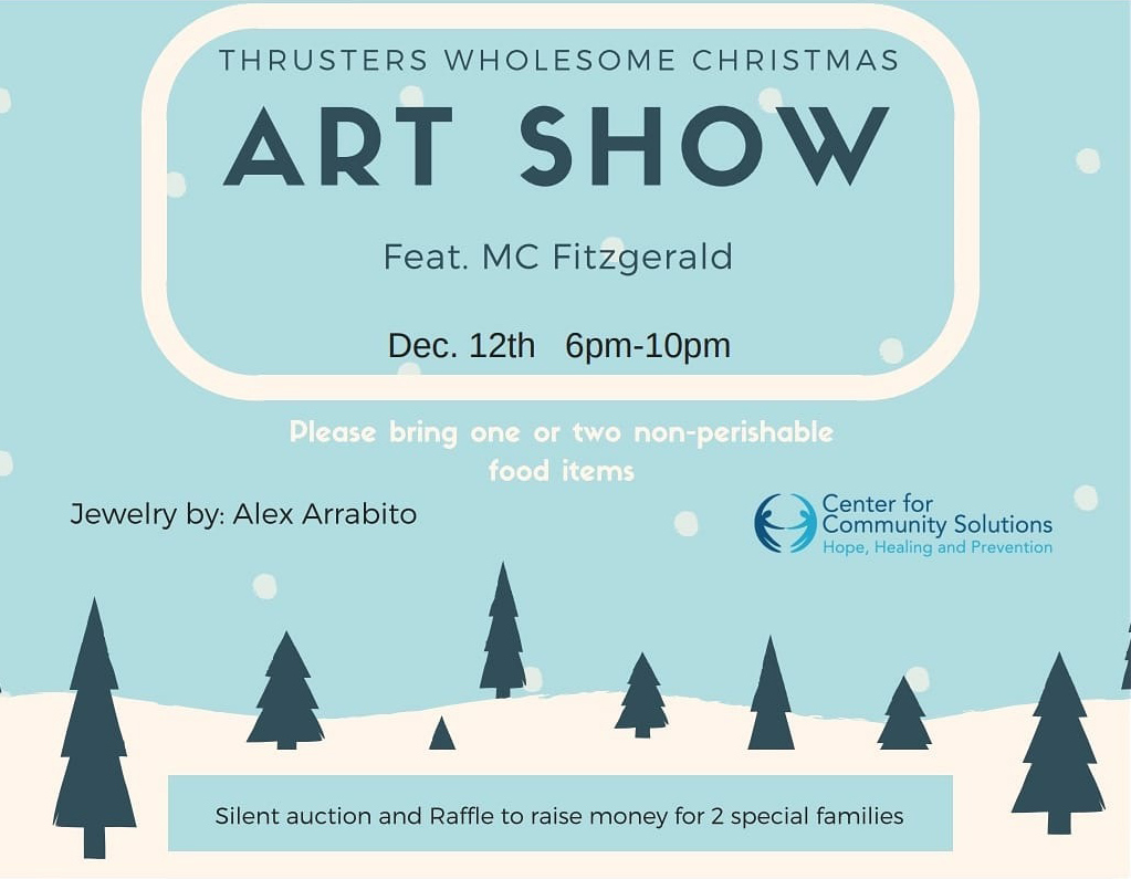 Thrusters Wholesome Christmas Art Show