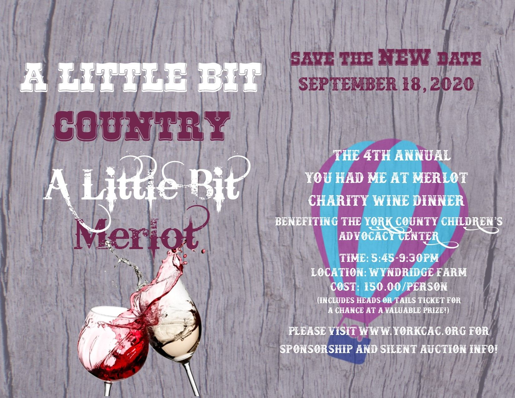 A Little Bit Country-A Little Bit Merlot:Our 4th Annual Wine Dinner