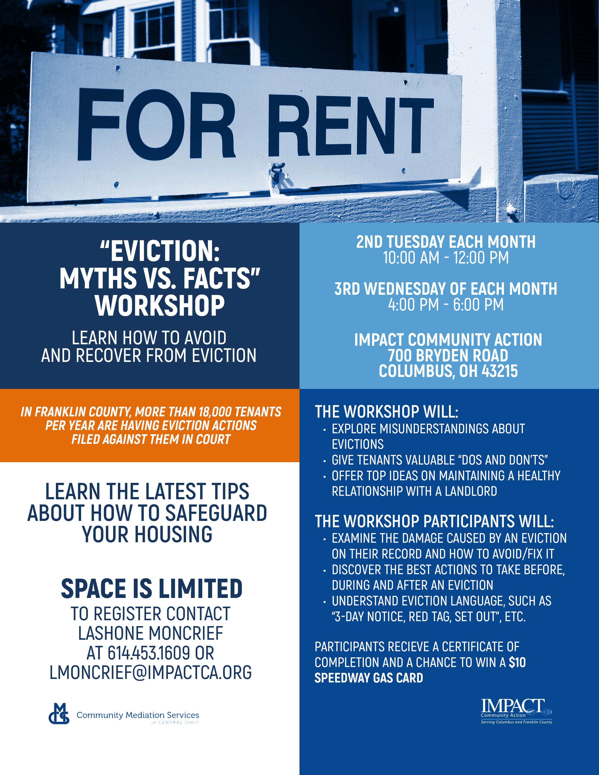 """""""Eviction Myths vs. Facts"""" Workshop"""