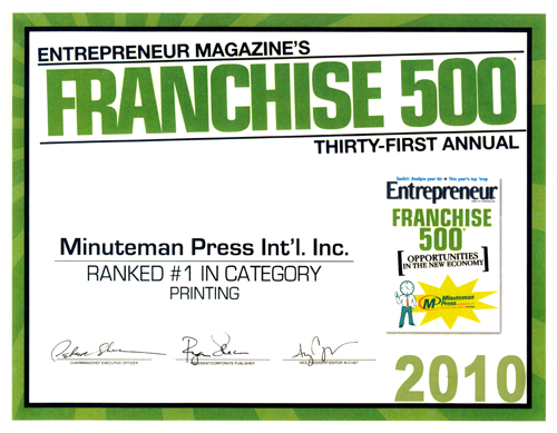 Minuteman Press International, Inc. is #1!