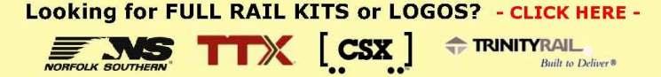 Rail Graphics kits, rail logos