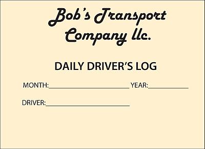 Basic Driver's Log Or DVIR Printed Cover