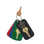 Cart Key Tags