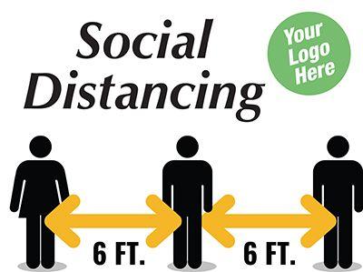 6Ft Distance Sign - Custom