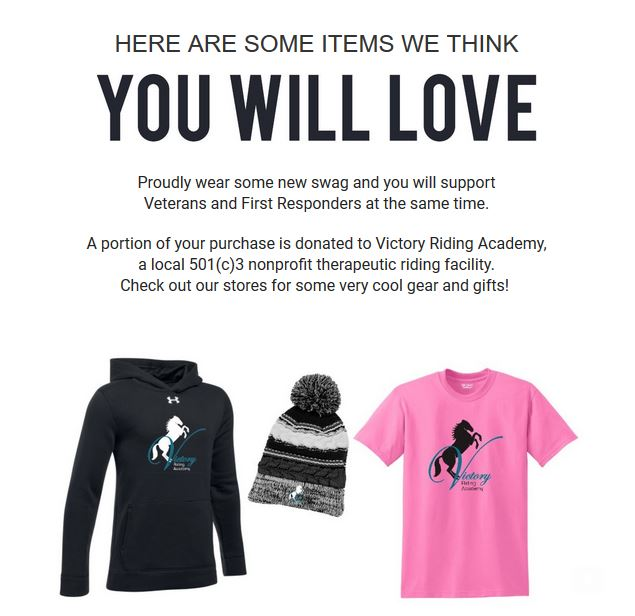Victory Riding Academy Apparel is here