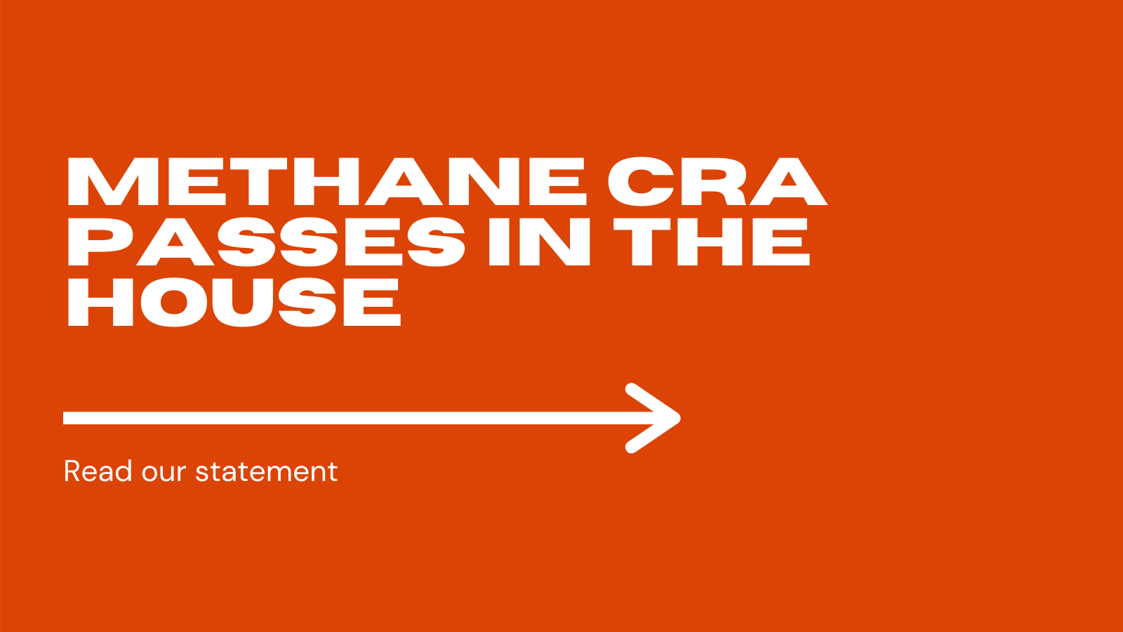 YECA Applauds the Passage of the Methane Congressional Review Act