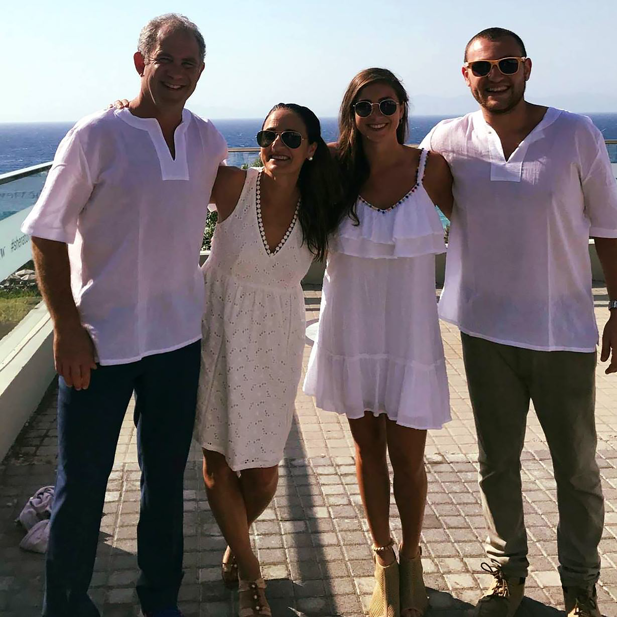The Markowitz family in Rhodes, Greece. 2017.