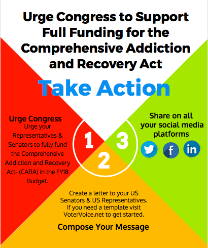 Urge Congress to Support Full Funding for the Comprehensive Addiction and Recovery Act (CARA)