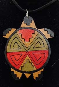 Chickie's Gourd Art-Turtle Necklace