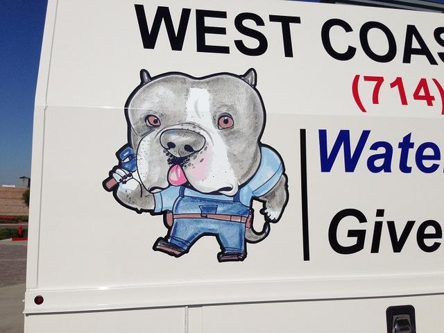 Contractor van graphics Orange County