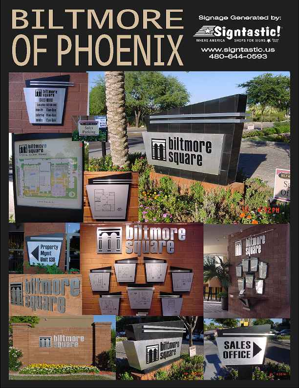 Biltmore of Phoenix Community Signage Installed and Maintained by Signtastic! Click to Enlarge.