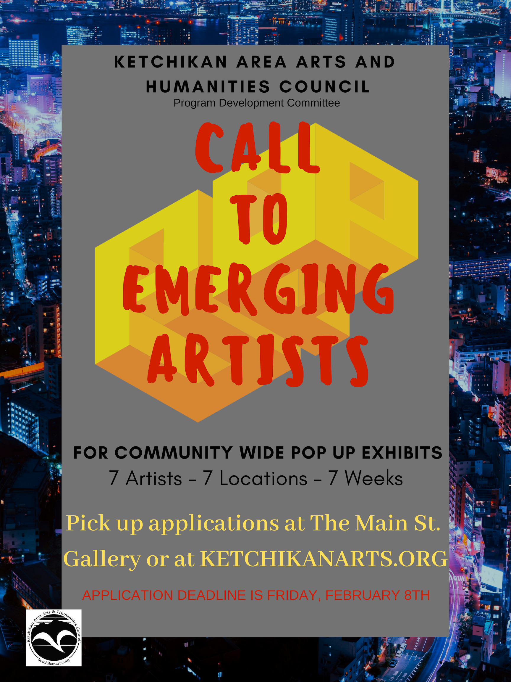 Call to Artist: POP-UP GALLERY