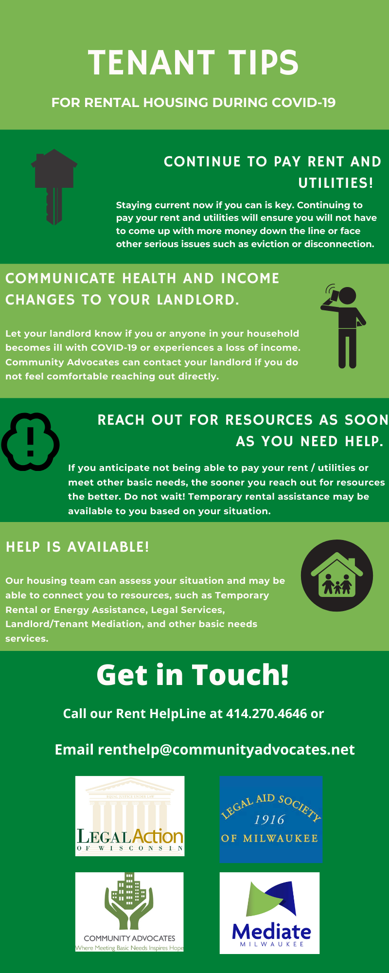 Tips for Milwaukee Tenants During the COVID-19 Public Health Emergency