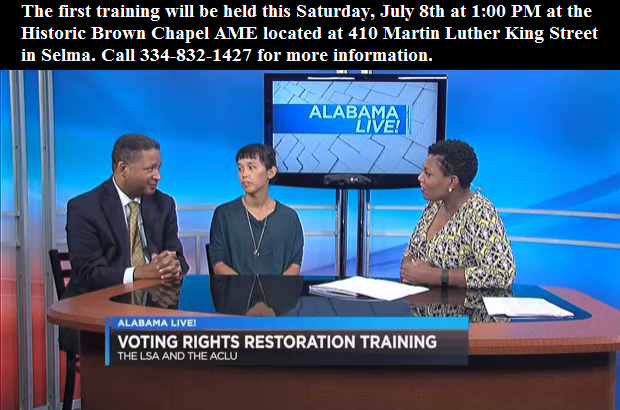 LSA and ACLU Alabama team up to help restore voting rights