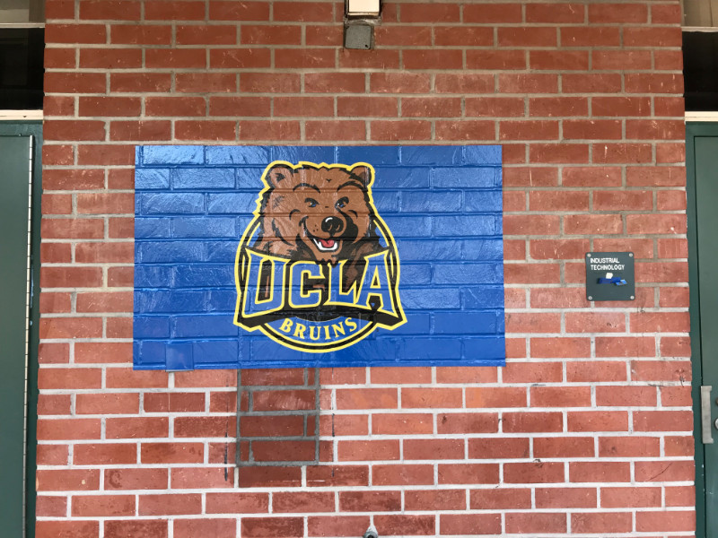 Wall Murals on Brick for Schools in Whittier CA