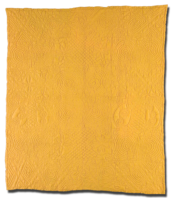 Whole Cloth, Maker unknown, Made in Carmarthenshire County, Wales, United Kingdom, Circa 1900-1910, 76 x 69 in, IQSC 2005.036.0003