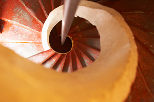 spiral staircase picture looking straight down staircase