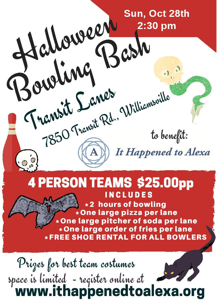Join us for our Halloween Bowling Bash Oct 28!