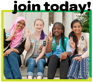 Start the fun now! Become a Girl Scout today