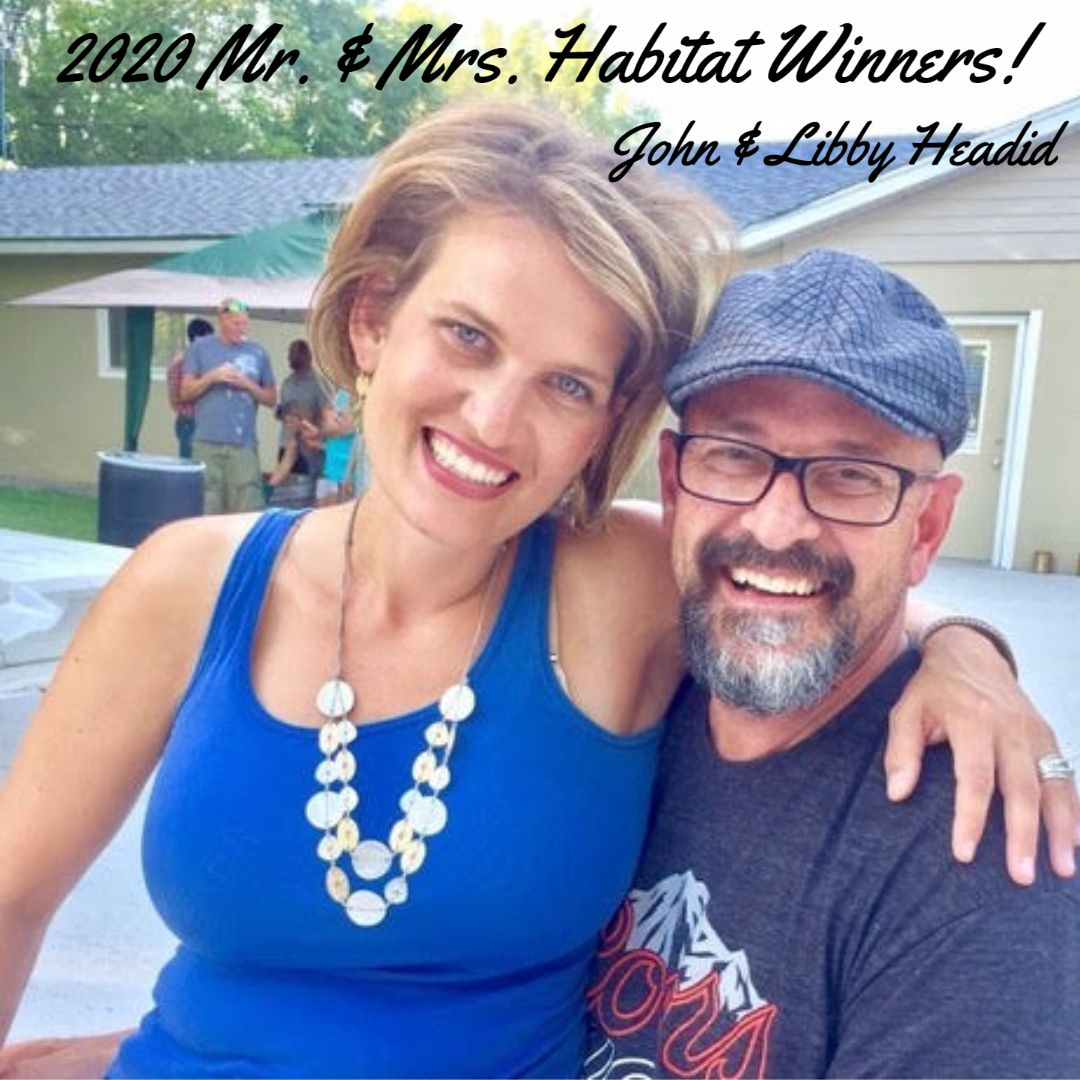 Congratulations to our Mr. & Mrs. Habitat Winners  - John & Libby Headid