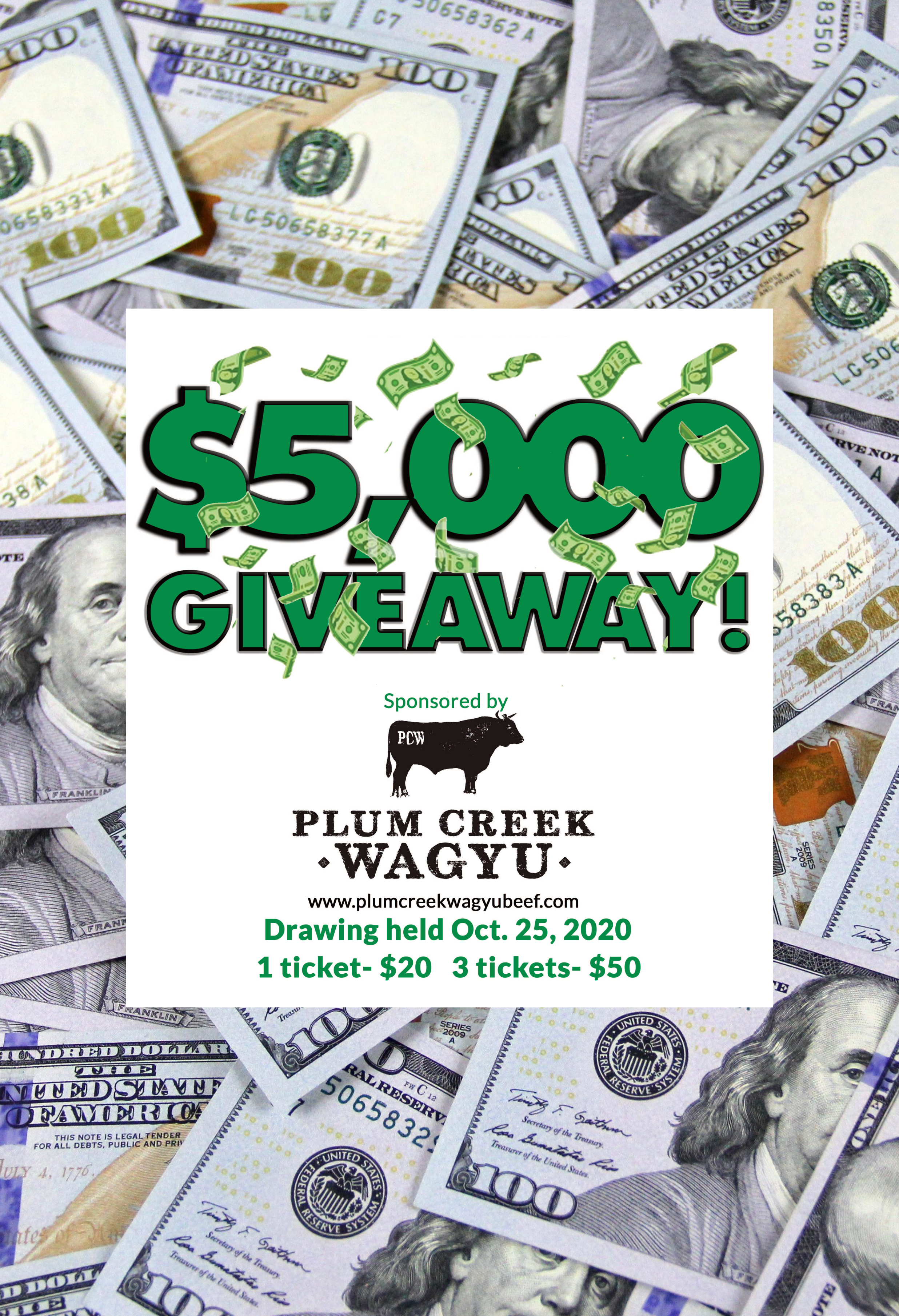 """Talk about a """"CASH COW""""... check out our $5000 GIVEAWAY!"""